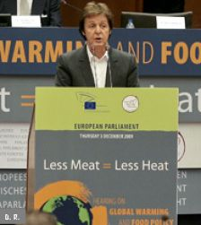 "Paul McCartney: ""less meat = less heat!"""